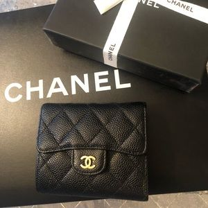 Chanel Square trifold wallet
